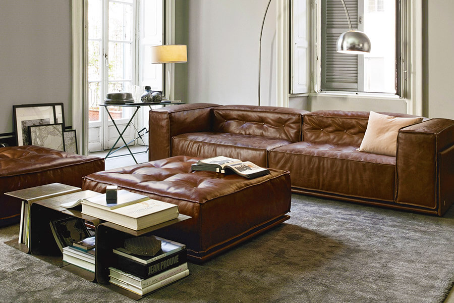 Sofa Da Hiện đại
