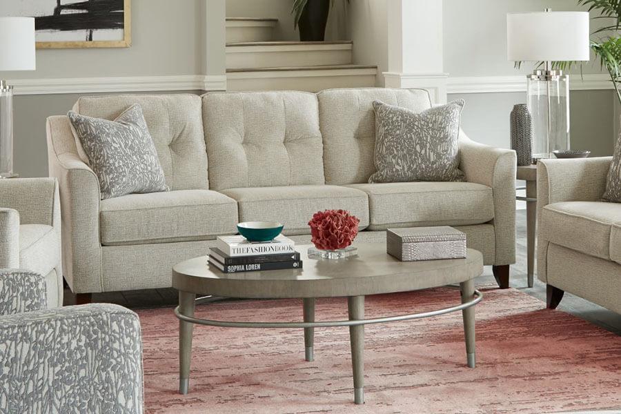 Sofa Màu Kem Phối Màu Ghế Sofa
