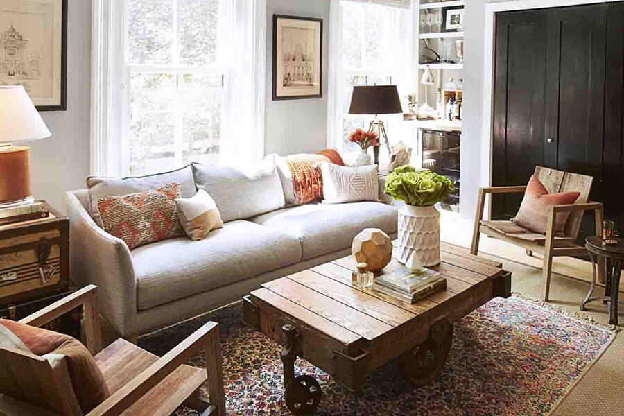 chọn màu sofa phòng khách nhỏ