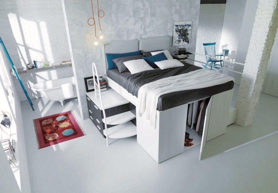 giường nội thất thông minh phòng ngủ nhỏ