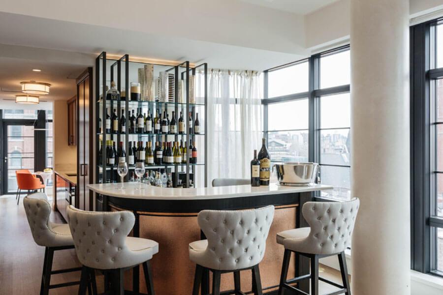 nguyên tắc thiết kế quầy bar tại nhà