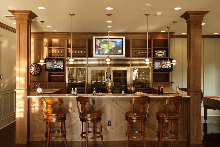 quầy bar mini nhà bếp