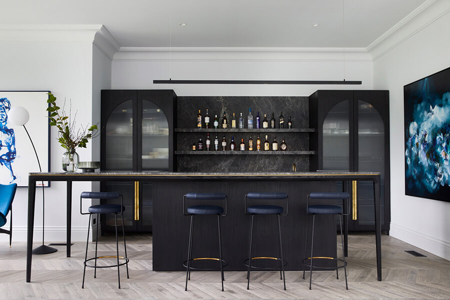 thiết kế quầy bar mini trong nhà