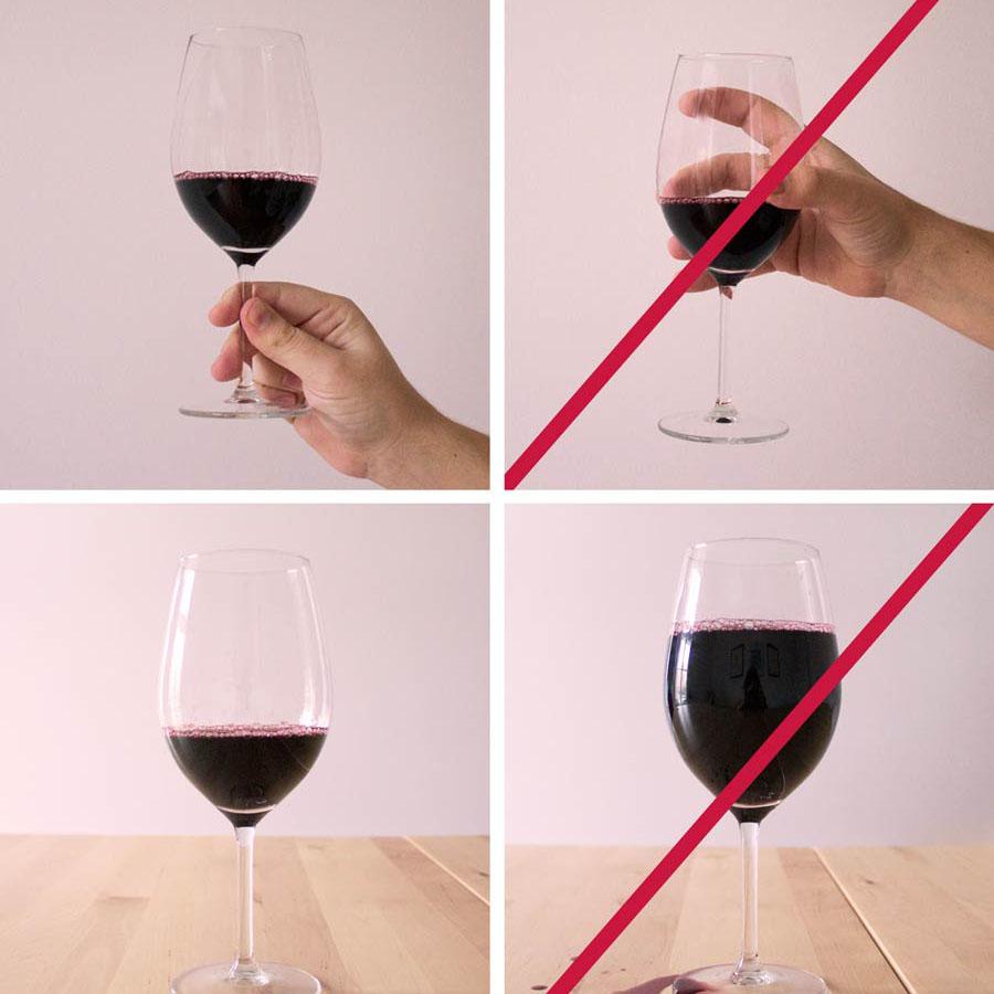 cách cầm ly rượu vang sang chảnh