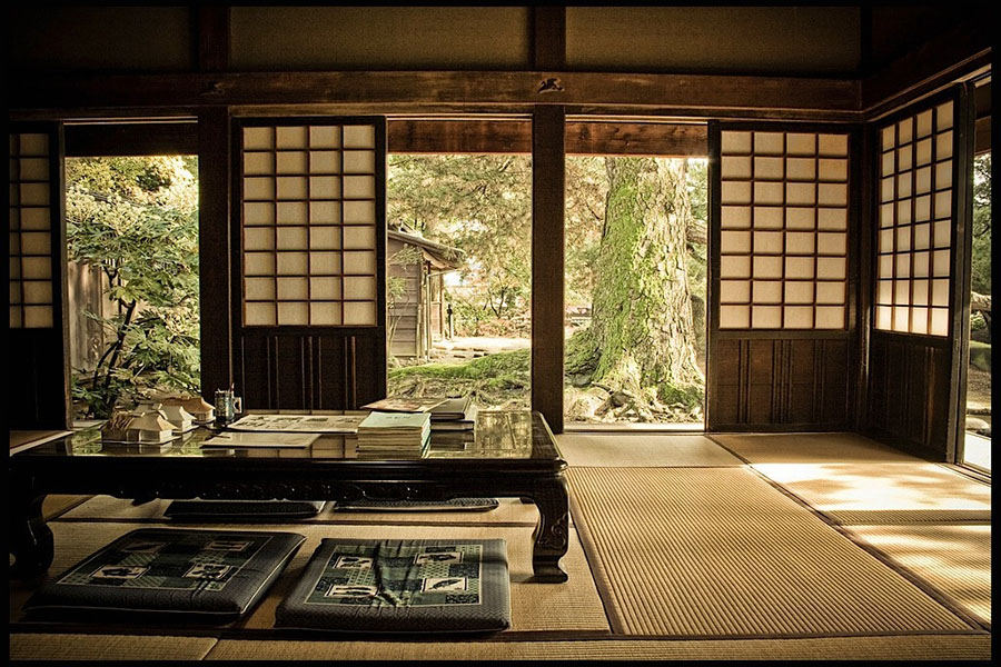 thiết kế phòng trà phong cách nhật bản