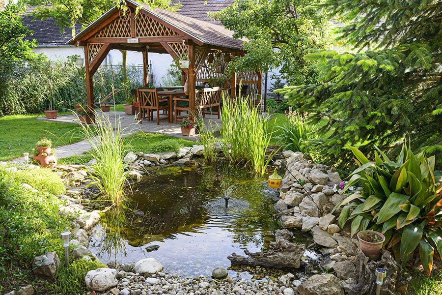 yếu tố hài hòa trong thiết kế sân vườn
